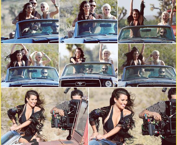 """APRIL 19TH // La sublime Lea a été vue sur le set de son nouveau clip """"On My Way"""" dans desert de Los Angeles. - Le garcon joue son boyfriend dans le clip rien d'autre!"""