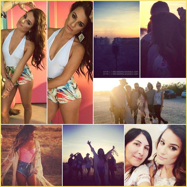"""DIVERS // Diverses photos postée par Lea sur les réseaux sociaux prise sur le tournage du clip""""On my way""""."""