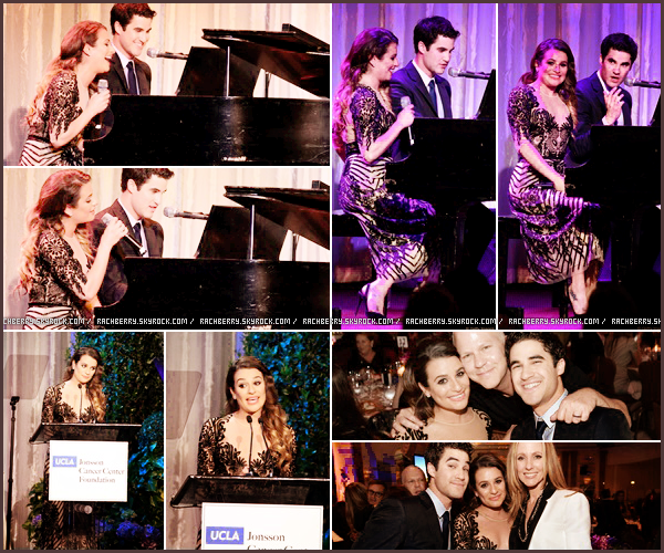 "APRIL 25TH // Lea été a l'événement ""Taste of Cure"" (fondation contre le cancer) avec Darren Criss."