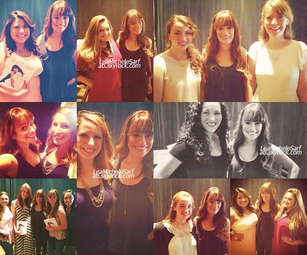 ·••MAY 17THl Lea a rencontré des gagnantes a un concours pour la promo de Brunette Ambition (New York).