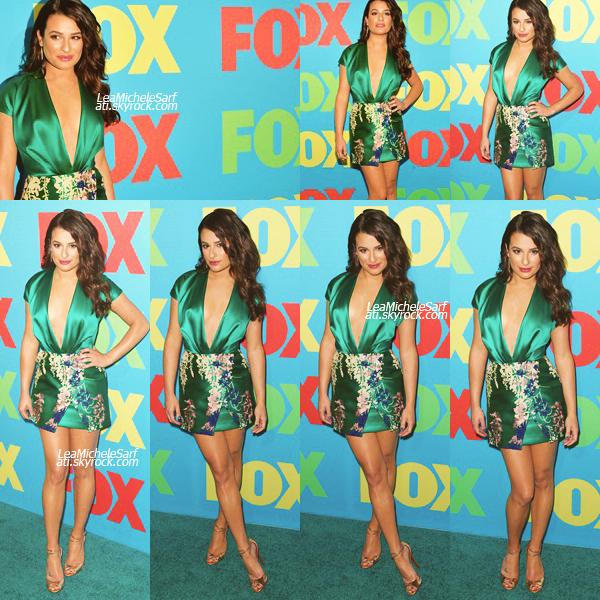 """·•• MAY 12THl Comme chaque année , Lea c'est rendue a l'event de la FOX """"Fox Upfront' qui c'est dérouler a NY -  Lea été vraiment sublime lors de l'évenement. J'adore sa tenue et sa coiffure , les photos sont vraiment sublime *-* TOP !"""