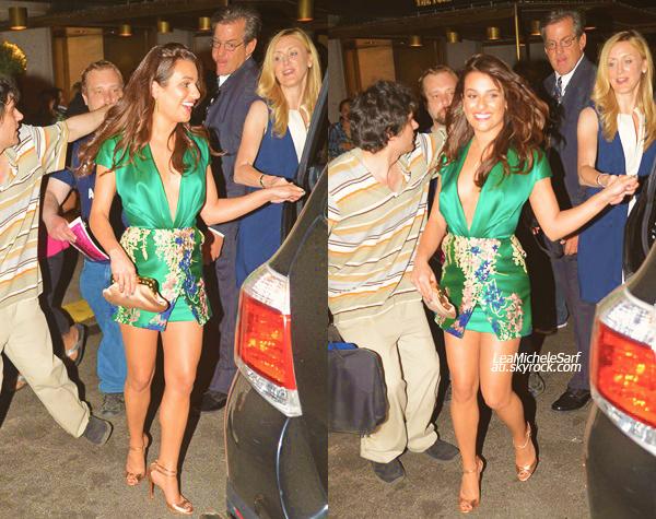 """·•• MAY 12THl Après les """"FOX Upfront"""" , Lea c'est rendue a l'after party de l'AP du film """"The Normal Heart"""". -  Ce film a été crée par Ryan Murphy (producteur de Glee) , Jonathan Groff y tient un role. Lea est toujours aussi souriante."""