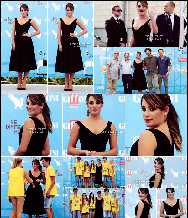 JULY 20TH // Notre magnifique Lea a été apercue posant sur le tapis rouge du festival de Giffoni en Italie