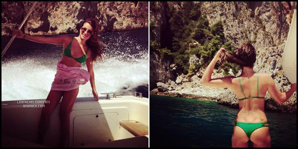 JULY 21ST // Lea a posté deux magnifique nouvelle photos sur instagram lors d'un ballade en Yacht en Italie.