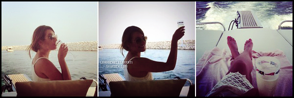 JULY 22ND //Lea a été vue avec son chéri d'amour Matthew Paetz se baladant dans New York City.
