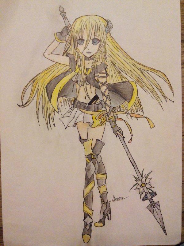 Mon dessin pour le concours de Gumi-sama *^*