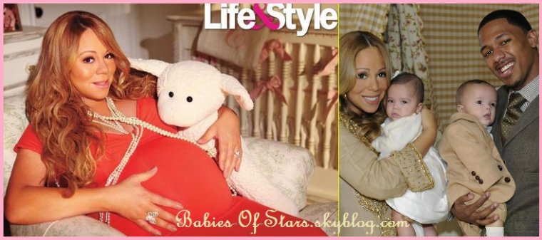 Mariah Carey et ses jumeaux Monroe et Morrocan ♥