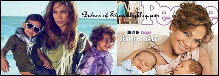 Jennyfer Lopez et ses jumeaux Max et Emme ♥