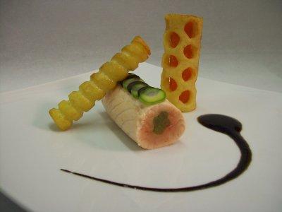Dos de saumon au fenouil et pommes frites