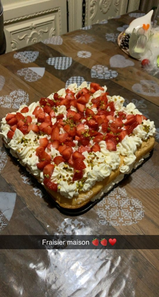 Et voici un fraisier fait maison !