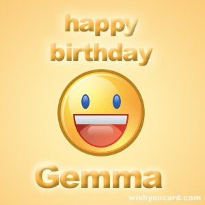 Happy birthday Gemma