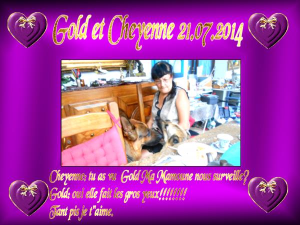 GOLD MA COPINE CHEYENNE ET TATA JOSY NOUS ONT RENDU VISITE