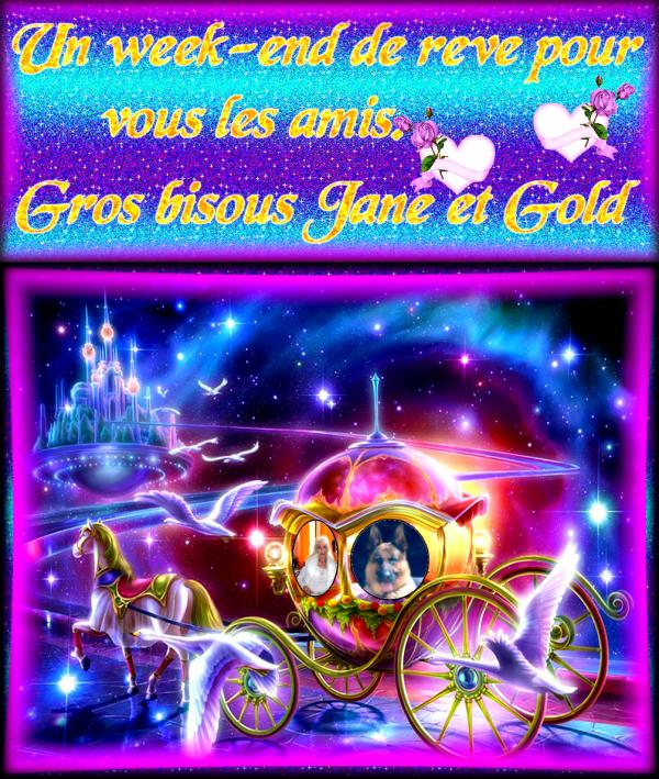 GOLD CADEAUX BON WEEK -END POUR VOUS LES AMIS A PRENDRE ET METTRE SUR  VOS BLOGS