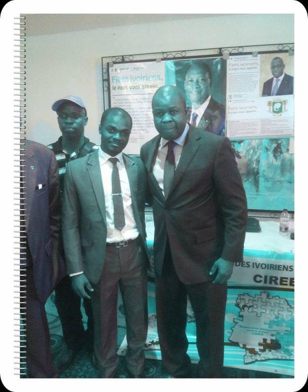 moi et le directeur des ivoirien de l'étranger