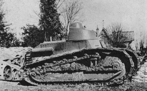 4 obus de 37 mm Char Renault  FT-17