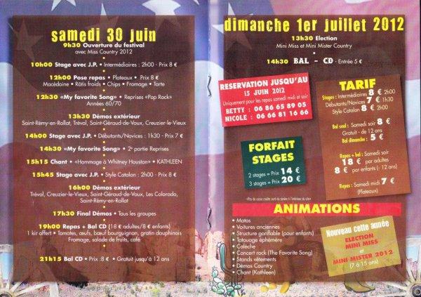 3ème Festival Country a St Rémy en Rollat
