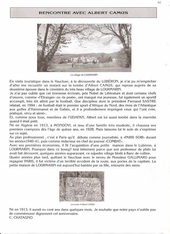 RENCONTRE AVEC ALBERT CAMUS