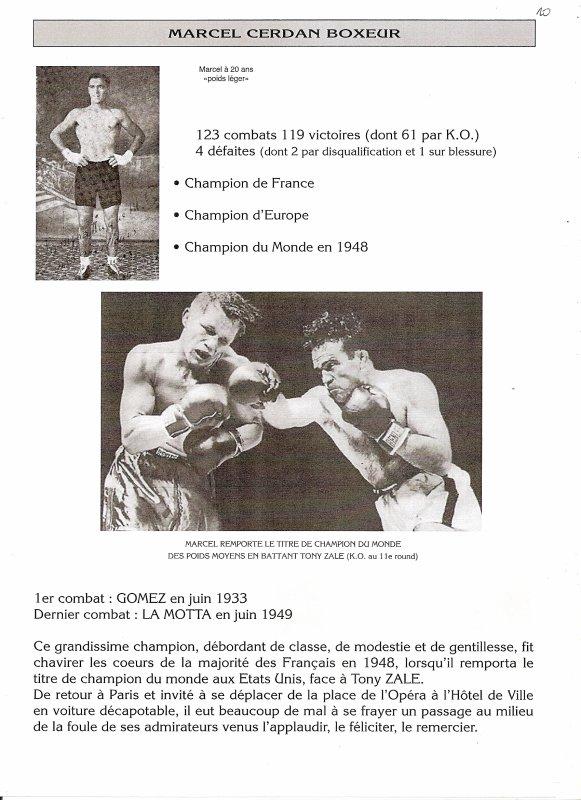 Journal 33 CERDAN le BOXEUR