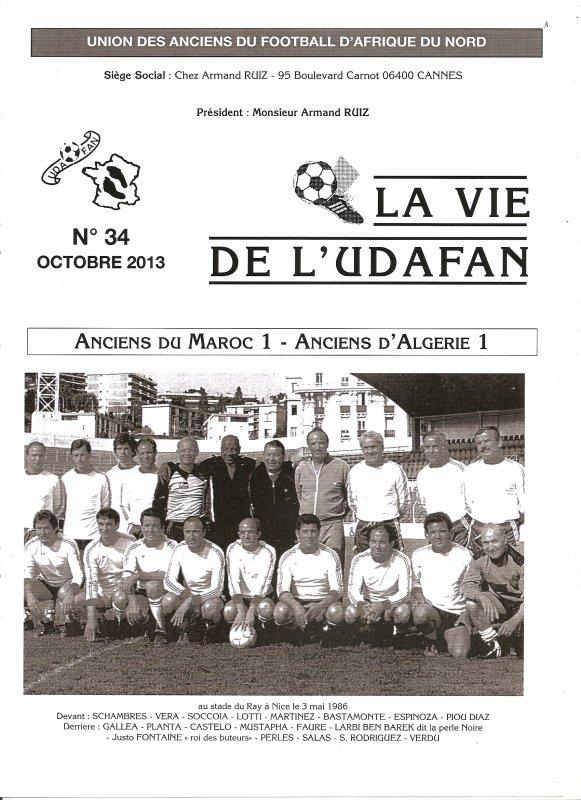 JOURNARL 34 Stade du RAY à Nice 3/05/1986