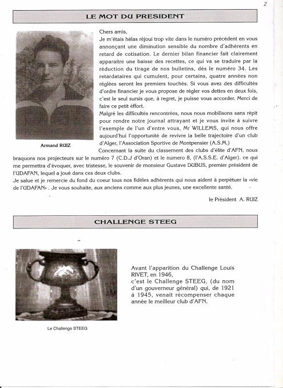 JOURNAL 34 LE MOT DU PRESIDENT