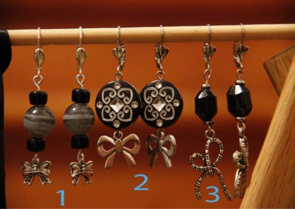 Création AGAPPA, modèles uniques : boucles d'oreilles - 8 euros
