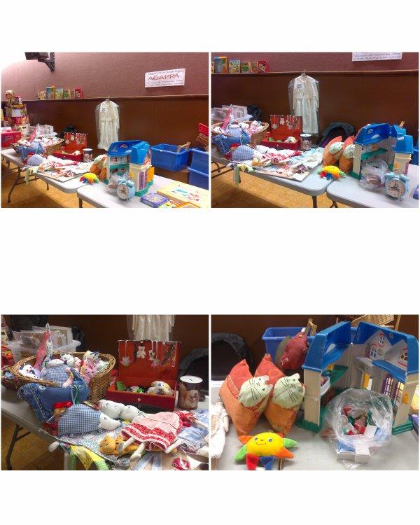 Stands de l'AGAPPA pour les fêtes de fin d'année : bourse aux jouets de Courrières