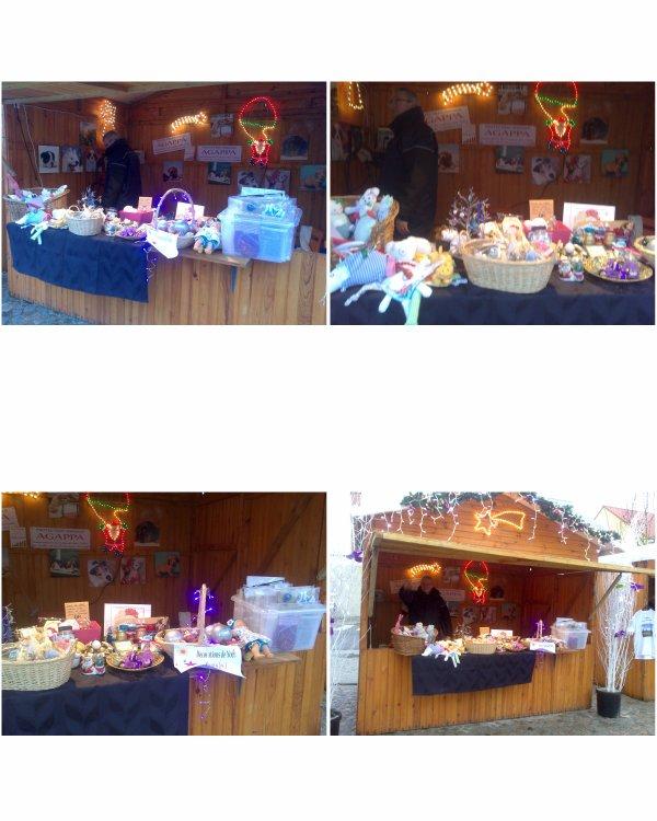 Stands de l'AGAPPA pour les fêtes de fin d'année : marché de Noël dans les chalets à Courrières