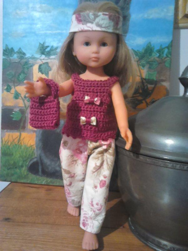 Mars 2015 : Tenue d'été pour poupée Corolle de type Les chéries (crochet + couture)