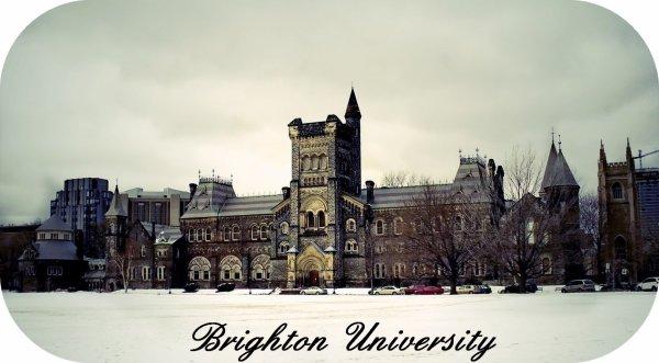 .  « Bridghton University, vous ouvres grand ses portes. »   .