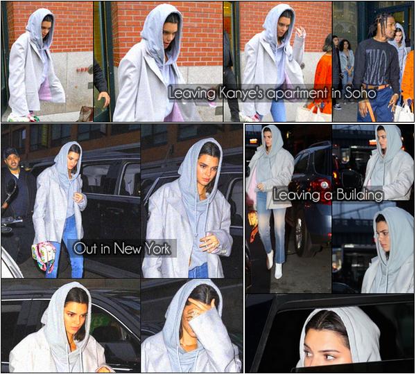 -  06.06.2017 - Kendall Jenner a été aperçu sortant de l'appartement de Kanye avec son ami Asap dans Soho. Nous la retrouvons également dans New York toute seule et également quittant un immeuble à NY. C'est un Bof pour la tenue de K. -