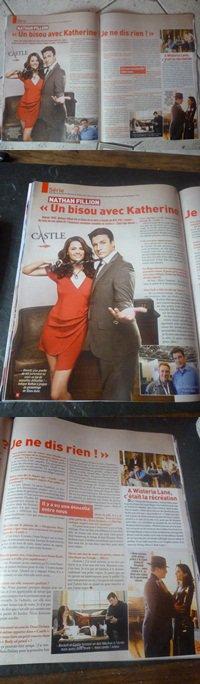 interview de nathan fillion dans le ciné télé revue ( magasine belge)