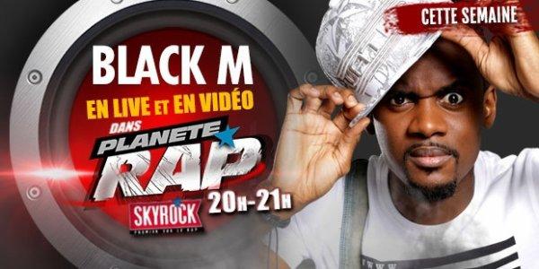 BlackM dans Planete Rap la Famille