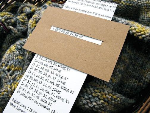 Astuce pour suivre facilement les explications au tricot et au crochet.