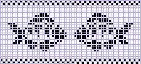 Grilles crochet hippocampe et poissons, trouvées sur le net.