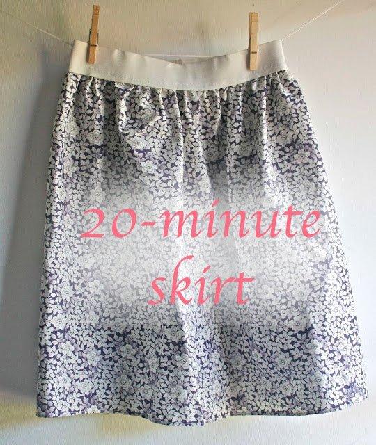 Couds une jupe en 20 minutes.