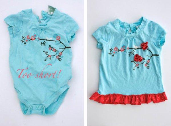 Vêtements  trop petits  les enfants grandissent, il y a des solutions...