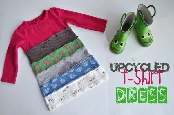 Tuto pour coudre une robe enfant en mode recyclage.