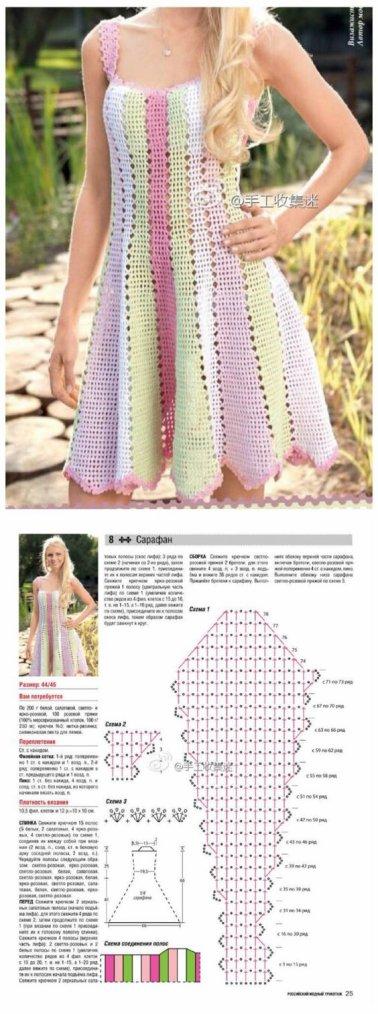 Modèle robe au crochet.