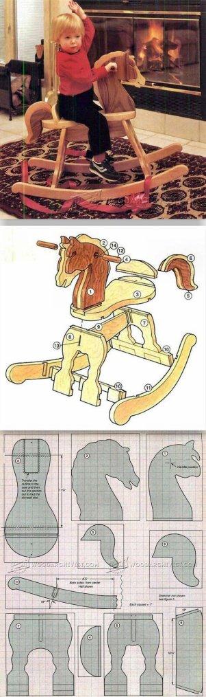 Un chevak à bascule en bois pour les pros du bricolage.