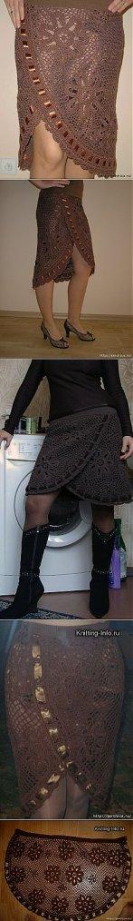 Fabuleuse jupe au crochet.
