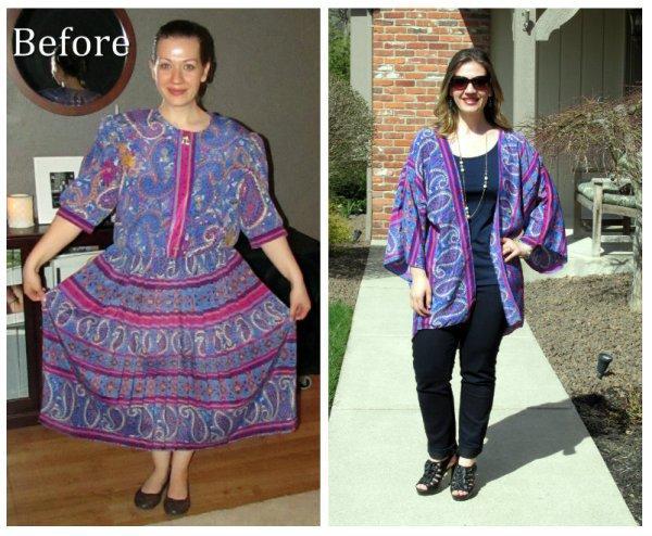 Quand une robe hasbeen devient un kimono tendance.