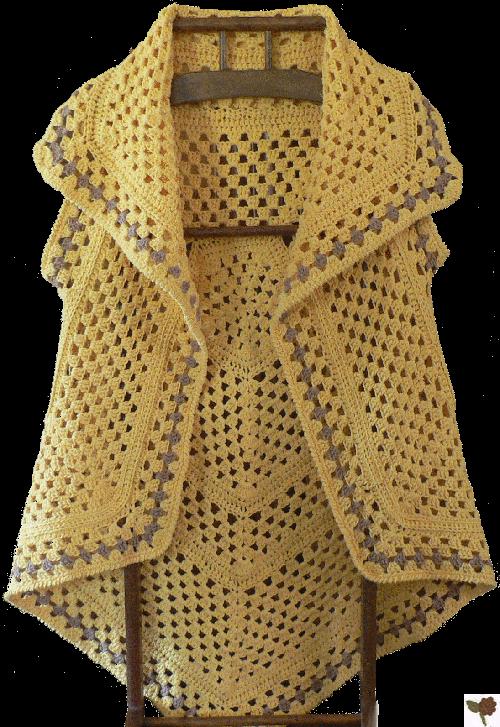 Modèle gratuit de veste longue en forme de pentagone (manches en option)
