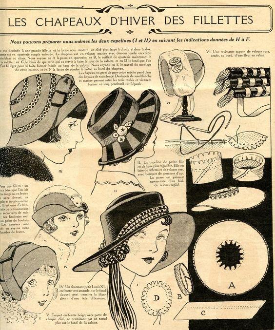 Des chapeaux.