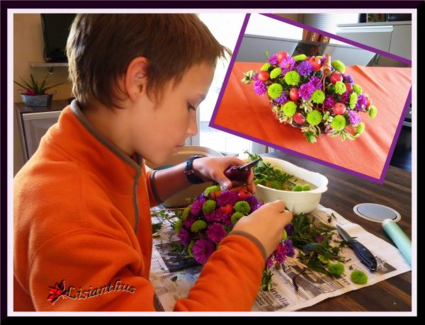 Leçon d'art floral