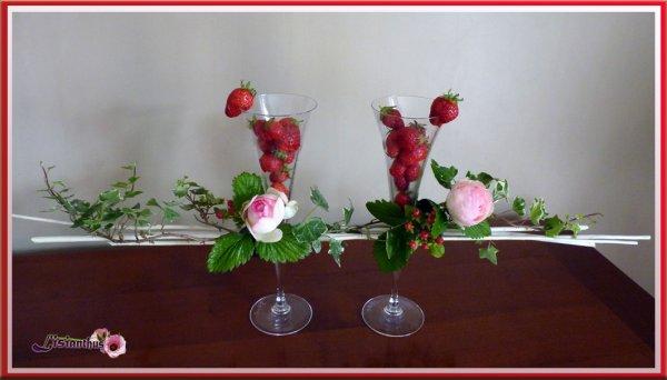 Fleurs & fraises