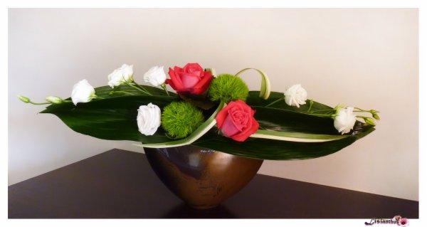 Cr ation de table art floral bouquet cr ations for Lisianthus art floral