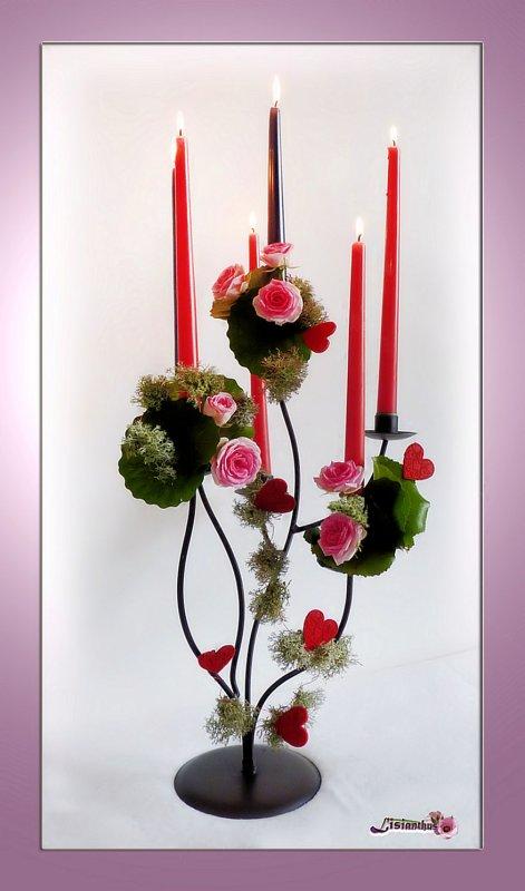"""chandelier """" St Valentin """""""
