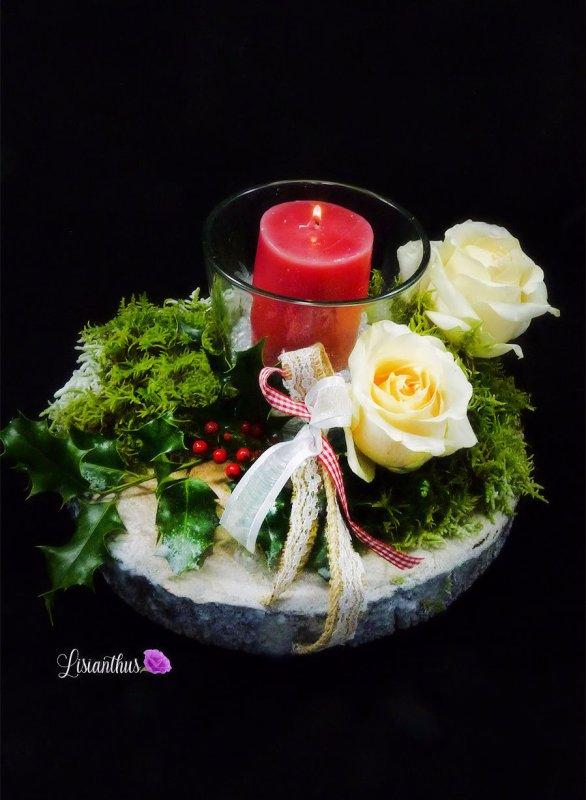 art floral Noël