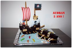 Gateau d'anniversaire que j'ai réalisé pour les 5ans de mon petit pirate !