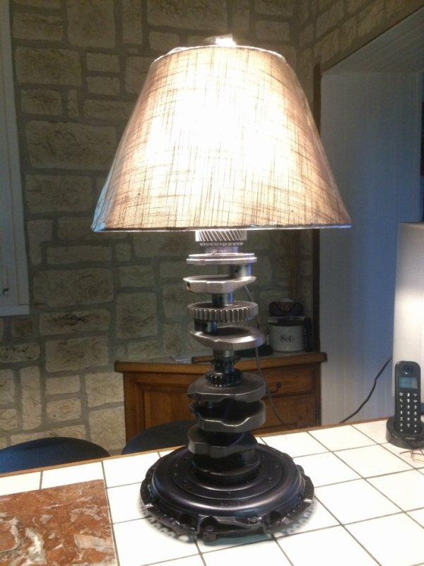 "Lampe  "" méca Sculpture Falko """